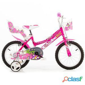 "Bicicletta Per Bambina 14"" Flappy 2 Freni 146r Dino Bikes"