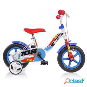 """Bicicletta Per Bambino 10"""" 1 Freno 108fl Boy Dino Bikes"""