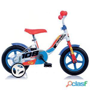 """Bicicletta Per Bambino 10"""" Senza Freno 108l Boy Dino"""