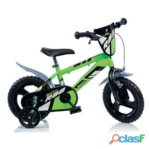 """Bicicletta Per Bambino 12"""" Eva Mtb 1 Freno 412ul Dino"""