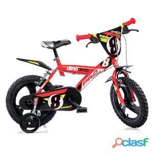 """Bicicletta Per Bambino 14"""" Pro-cross 2 Freni 143gln Dino"""