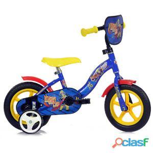 """Bicicletta Sam Il Pompiere Per Bambino 10"""" Senza Freno"""