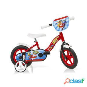 """Bicicletta Super Wings Per Bambino 10"""" Senza Freno"""