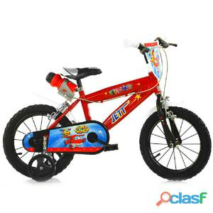 "Bicicletta Super Wings Per Bambino 14"" 2 Freni 414u-sw"