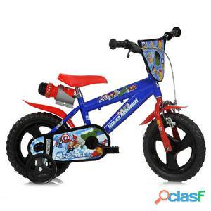 """Bicicletta The Avengers Per Bambino 12"""" Eva 1 Freno"""