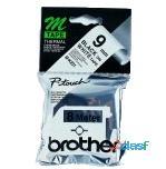 Brother Labelling Tape - 9mm, Black/White, Blister MK221BZ