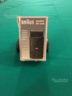 Rasoio elettrico da viaggio a batterie