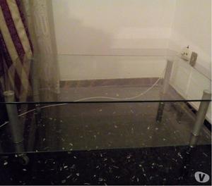 Tavolino tavolo base porta televisore con rotelle posot - Porta televisore in vetro ...