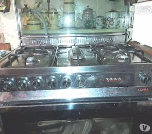 Ottima cucina in acciao inox lofra posot class - Cucina a gas 5 fuochi ...