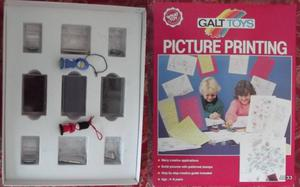 PICTURE PRINTING GALT TOYS MADE IN ENGLAND