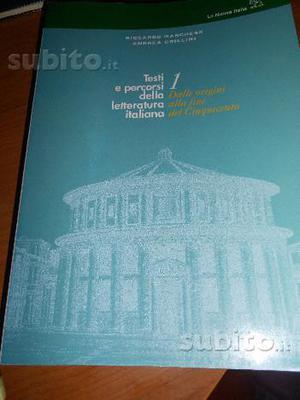 Testi e percorsi della letteratura italiana 1