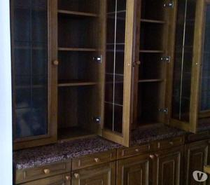 vetrina in legno rovere