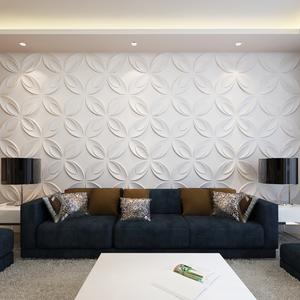 vidaXL Pannello da parete 3D Fiore 0,3 m x 66 pannelli 6 m²