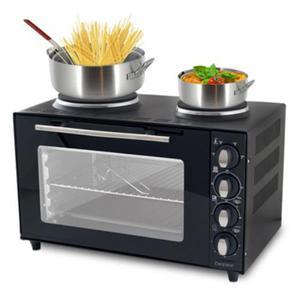 Forno fornetto elettrico con fornelli piastre posot class - Forno elettrico con microonde integrato ...