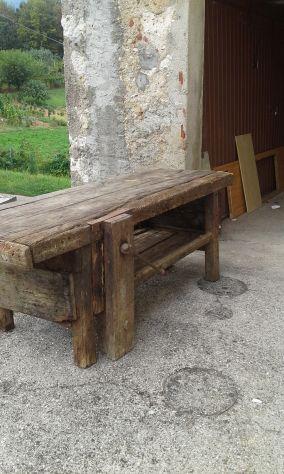 tavolo da falegname antico