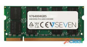 Memoria 4gb ddr2 800mhz cl6 so dimm pc2-6400 - V7 -