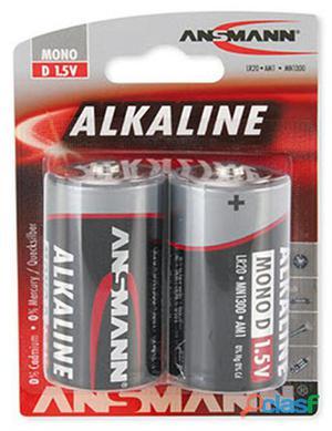 Nuovo 477372 10 Pz. Ansmann 477372redline Alcaline D Box 2x