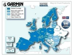 CARTOGRAFIA STRADALE EUROPEA !! GARMIN CITY NAVIGATOR EU