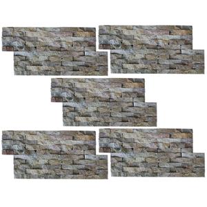 vidaXL Set 5 pz Pannelli di rivestimento per pareti in marmo
