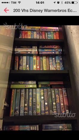 200 VHS originali Disney WarnerBros ecc