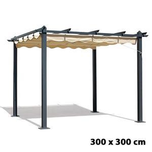 Gazebo con pali in legno e alluminio cm 300x400 posot class for Pergola bioclimatica prezzo mq