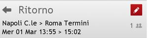 Biglietto Italo Napoli-Roma 1 Marzo