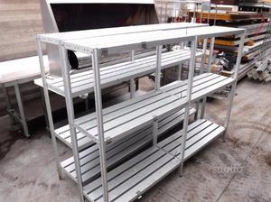 Scaffali in alluminio per cella frigo usati posot class