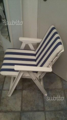 Sedie da giardino bianche grand soleil