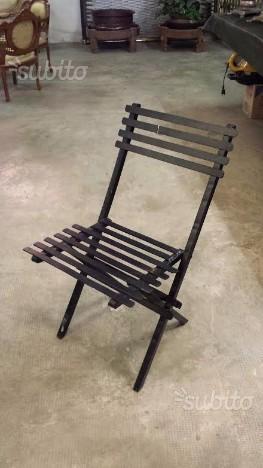 Sedie in ferro battuto massiccio