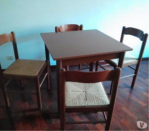 Tavolo quadrato design legno 4 sedie legnoecopel posot class for Tavolo legno quadrato