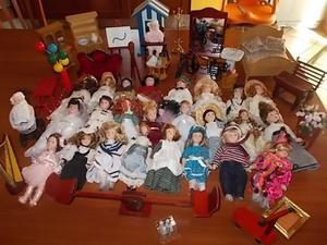 Collezione di bambole di porcellana