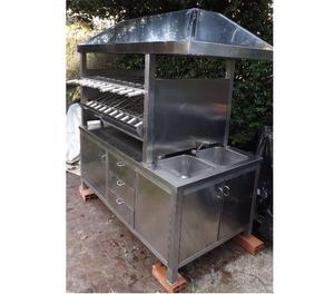 Griglia e spiedo blocco cucina a gas