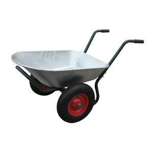 vidaXL Carriola per giardinaggio con due ruote 66 L
