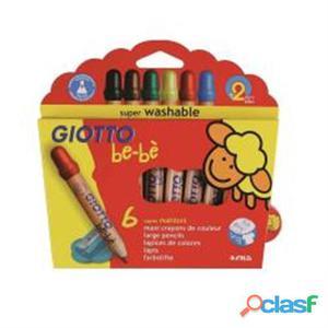 Nuovo 466400 Giotto 466400cf6 Pastelloni Legno Giotto Bebe