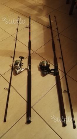 Canne da pesca al siluro