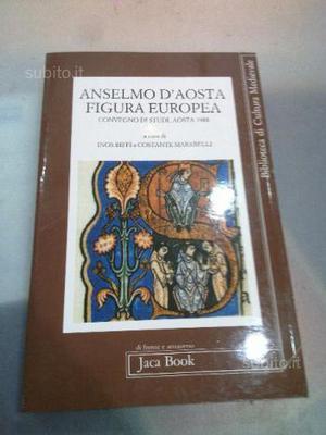 Libro anselmo d'aosta figura europea jaca book