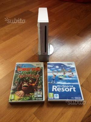 Wii nintendo console + due giochi