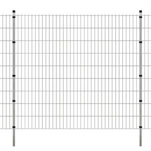 vidaXL Pannelli per recinzione da giardino con pali
