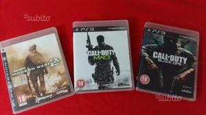 3 giochi Call of duty per PS3