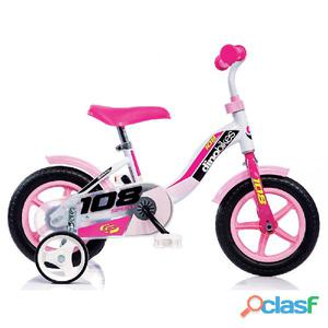 """Bicicletta Per Bambina 10"""" Senza Freno 108l Girl"""