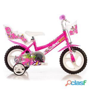 """Bicicletta Per Bambina 12"""" Eva Flappy 1 Freno"""