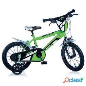 """Bicicletta Per Bambino 16"""" Mtb 2 Freni 416u Dino"""