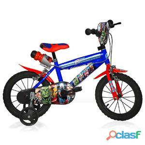 """Bicicletta The Avengers Per Bambino 14"""" 2 Freni"""