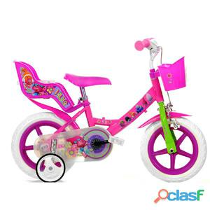 """Bicicletta Trolls Per Bambina 12"""" Eva 1 Freno"""