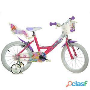 """Bicicletta Winx Per Bambina 16"""" 2 Freni 164r-wx7"""