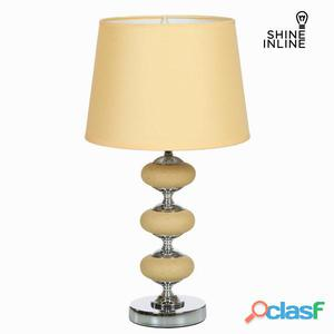Lampada Da Tavolo Di Nichel E Ce By Shine Inline