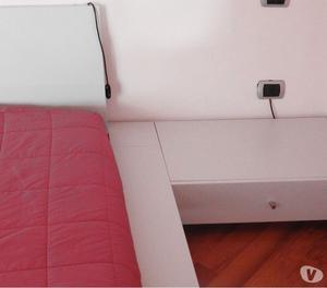 Letto con doghe e materasso 70x160 comodino posot class - Materasso lattice letto contenitore ...