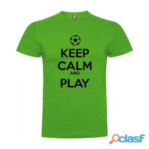 T-shirts casual Kruskis Keep Calm And Play Football