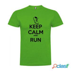 T- shirts casual Kruskis Keep Calm And Run