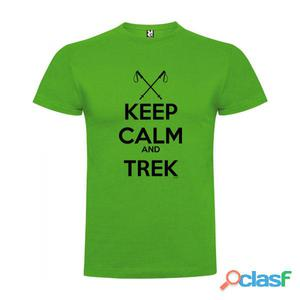 T-shirts casual Kruskis Keep Calm And Trek